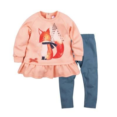 Комплект туника и лосины для девочки Принт лисичка размер 26, 28 в Саратове
