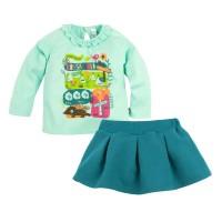 Комплект джемпер и юбка с принтом для девочки размер 26, 28