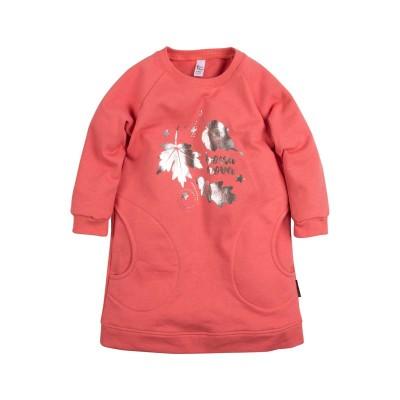 """Платье с принтом """"Листья"""" для девочки.Цвет красный размер 30, 32 в Саратове"""