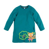 """Платье с принтом """"Лисичка и дерево"""" для девочки размер 28, 30, 32."""