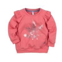 Свитшот розовый с принтом для девочки размер 30, 32