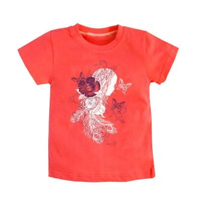 """Футболка с принтом """"Девочка и бабочки"""" для девочки размер 28, 30, 32 в Саратове"""