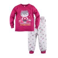 Пижама джемпер и брюки с принтом для девочки размер 30, 34