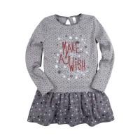Платье для девочки 'Принт' размер 28 цвет серый