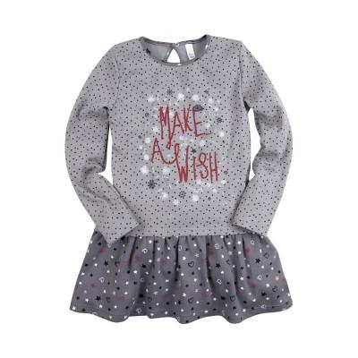 Платье для девочки 'Принт' размер 28 цвет серый в Саратове