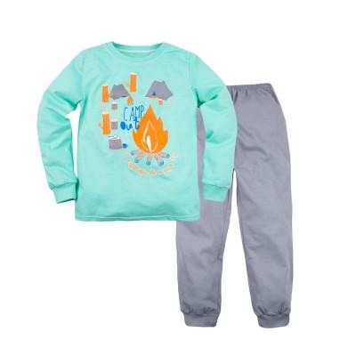 Пижама джемпер и брюки для мальчика 'Принт' размер 30 цвет  (Серый) в Саратове