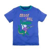 Футболка для мальчика 'Принт' размер 30 цвет (Синий (крокодил))