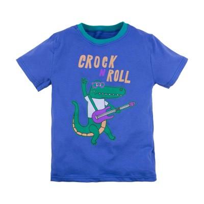 Футболка для мальчика 'Принт' размер 30 цвет (Синий (крокодил)) в Саратове