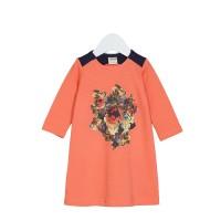 Платье на девочку цвет коралловый, размер 22, 24