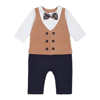 Комбинезон мальчика, цвет белый/темно-синий размер 22, 24, 26 в Саратове