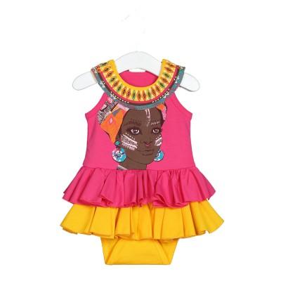 Боди-платье цвет малиновый размер 22, 24 в Саратове