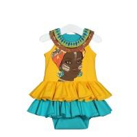 Боди-платье цвет желтый размер 22, 24
