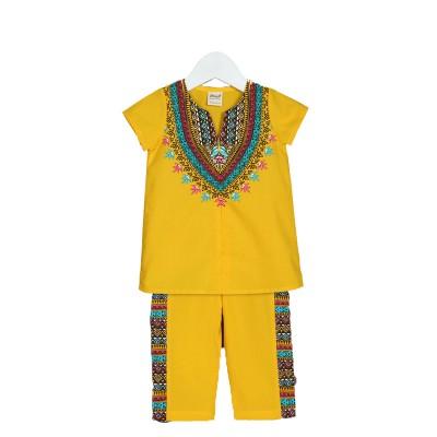 Костюм для девочки цвет желтый, размер 22, 24 в Саратове