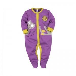 Комбинезон с лапками цвет фиолетовый 'Принт' размер 20, 22