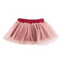 Юбка для девочки цвет бордовый размер 26