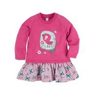 Платье для девочки 'Принт' цвет малиновый размер 26, 28