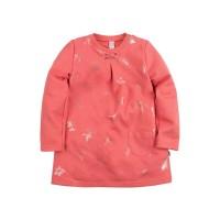 Платье для девочки 'Принт' цвет коралловый размер 26, 28