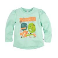Джемпер для девочки 'Принт' цвет бирюзовый размер 26,28