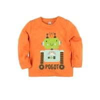 Джемпер для мальчика 'Принт' цвет оранжевый размер 26