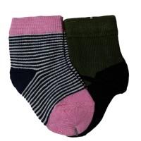 """Носки детские """"LEZHI QUWEI"""" от 0-3 мес парные цвет сине-розовый"""