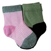 """Носки детские """"LEZHI QUWEI"""" от 0-3 мес парные цвет розовый в полоску"""