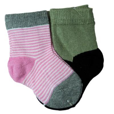 """Носки детские """"LEZHI QUWEI"""" от 0-3 мес парные цвет розовый в полоску в Саратове"""