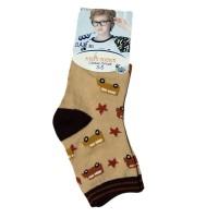 """Носки детские """"Ланю"""" на мальчика от 3-5 лет цвет коричневый"""