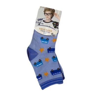 """Носки детские """"Ланю"""" на мальчика от 3-5 лет цвет голубой в Саратове"""
